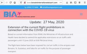 Bonaire International Airport - May 27, 2020 Update