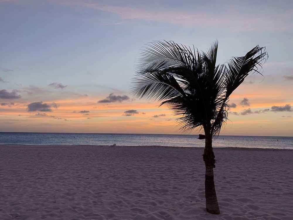 Aruba Sunset From Manchebo Beach