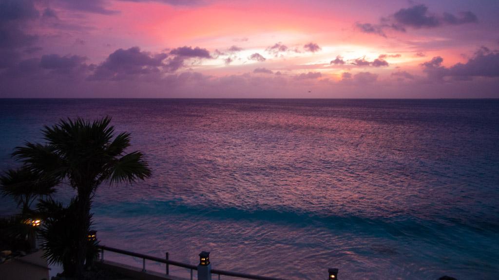 …Enjoying the Sunset on our Balcony in Belnem