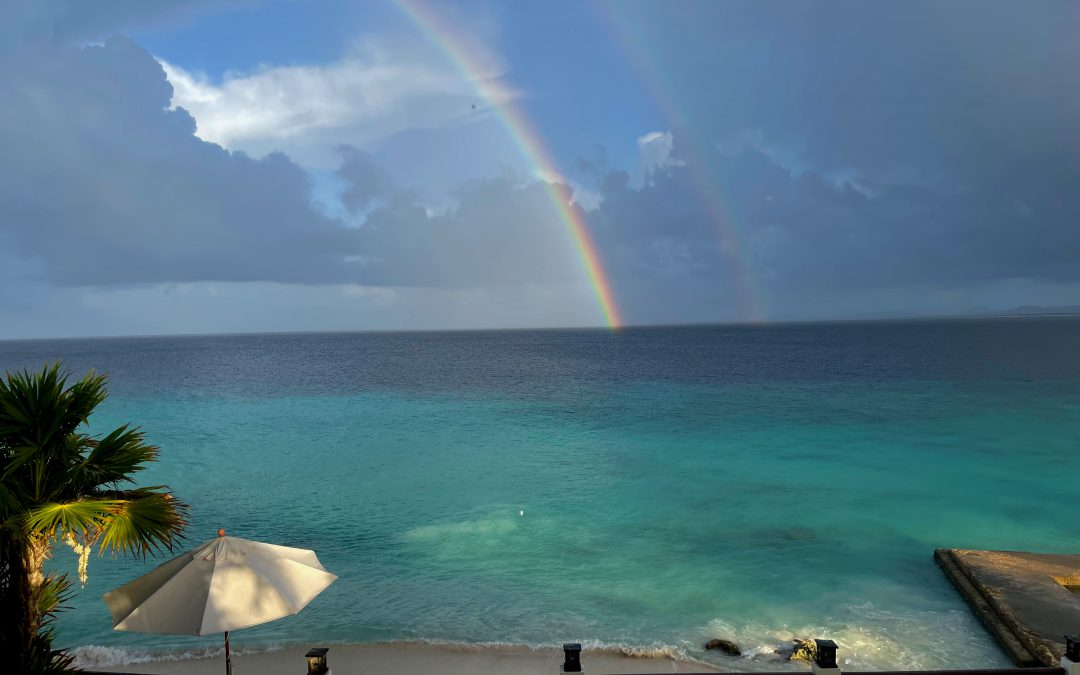…Viewing a Double Rainbow at Breakfast