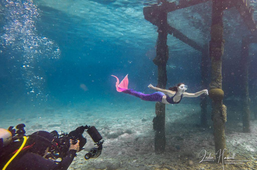 …Shooting a Mermaid at Buddy Dive